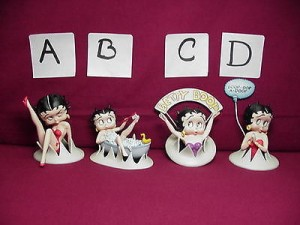 Betty Boop Figurine #C Arms Raised Design (retired)