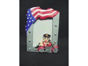 Betty Boop Picture Frame American Rider Biker (2 X 3 Picture)