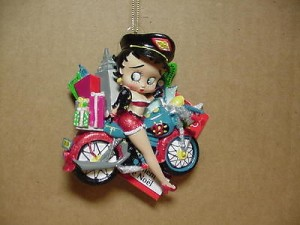 Betty Boop Ornament Biker W/ Presents 253