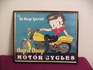 Betty Boop Picture 8x10 Biker Design