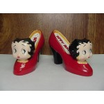 Betty Boop Salt & Pepper Shakers Shoe Design