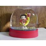 Betty Boop Water Ball Mini Sitting On Moon Design (retired)