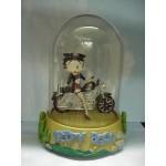 Betty Boop Musical Figurine Domed Biker Design (retired Item)