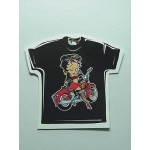 Betty Boop T-shirt Winking On Her Motorcycle Size Small