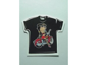 Betty Boop T-shirt Winking On Her Motorcycle Size 3x