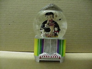 Betty Boop Musical Water Globe Juke Box Design W6850 (retired Item)