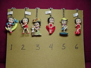 Betty Boop 3-D Key Chain #5 Gone Fishing Design.
