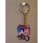 Betty Boop Key Chains Lot #37 American Rider Design Two Pieces.
