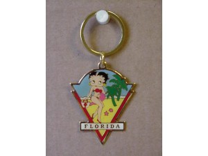 Betty Boop Key Chains Lot #32 Florida Design. Two Pieces.