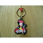 Betty Boop Key Chain / Zipper Pull Lot #40 Sitting On Motorcycle Design Two Pieces