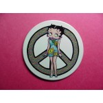 Betty Boop Magnets Lot #28 Two Pieces Peace Sign Design (retired Items)