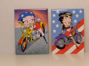 Betty Boop Magnets Lot # 1 Two Piece Biker Design (retired Items)