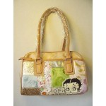 Betty Boop Pocketbook / Purse #43 Medium Face Design Multi Fabric