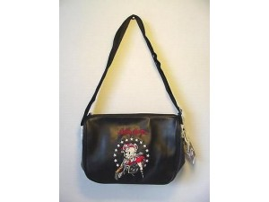 Betty Boop Pocketbook / Purse #49 Biker Design Black