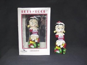 Betty Boop Ornament Sitting On Gifts Design (retired Item)