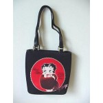 Betty Boop Pocketbook / Purse #71 Fur Stole Design Black & Red