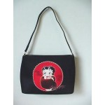 Betty Boop Pocketbook / Purse #72 Fur Stole Design Black & Red Medium