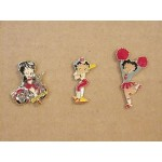 Betty Boop Pins Lot #18 Face & Red Dress Two Pieces.