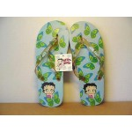 Betty Boop Flip Flops Butterfly Design Blue Size Medium