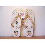 Betty Boop Flip Flops Polka Dot Design Size Small