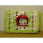 Betty Boop Tri-fold Wallet Sm Face Design Green