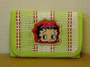 Betty Boop Tri-fold Wallet Face Design Green