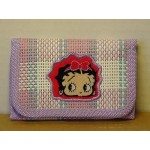 Betty Boop Tri-fold Wallet Face Design Purple
