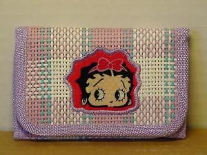 Betty Boop Tri-fold Wallet Face Design Purple