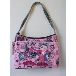 Betty Boop Pocketbook / Purse #17 Medium Hobo Bag Biker Gas Can Design Pink