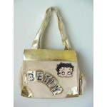Betty Boop Pocketbook / Purse #06 Cream Velour