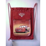 Cars Lightning Mcqueen Book Bag / Cinch Sack Red #18
