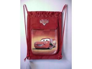 Cars Lightning Mcqueen Book Bag / Cinch Sack Red #18