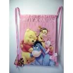 Winnie The Pooh & Friends Book Bag / Cinch Sack Pink #13