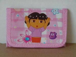 Dora The Explorer Mini Tri Fold Wallet Light Pink #10