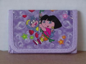 Dora The Explorer Mini Tri Fold Wallet Purple #12