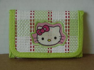 Hello Kitty Mini Tri Fold Wallet Green #42