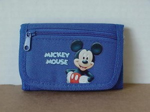 Mickey Mouse Mini Tri Fold Wallet Blue #02