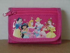 Princess Snow White Mini Tri Fold Wallet Dark Pink #09