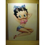 Betty Boop Post Card U.s.a. Design 11x14 #04