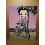 Betty Boop Post Card #11 Bicycle Design 8x10