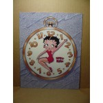 Betty Boop Post Card #13 Clock Design 8x10