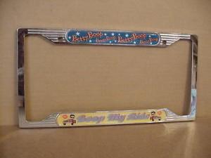 Betty Boop License Plate Frame  Metal Boop My Ride Design