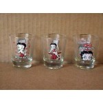 Betty Boop Shot Glasses Three (3) Piece Set Classic Designs #2