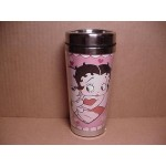 Betty Boop Tumbler Mug Double Insulated Heart With Pudgy Design W20183