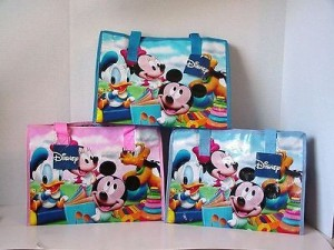 Disney Tote Bag Mickey Mouse & Friends #3 Light Blue