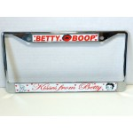 Betty Boop License Plate Frame Metal Kisses From Betty Design