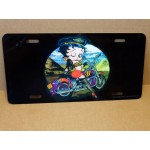 Betty Boop Metal License Plate Biker Design