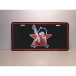 Betty Boop Metal License Plate Star Design