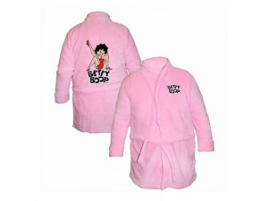 Betty Boop Bathrobe Leg Up Design Pink