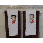 Betty Boop Bath Face Towels 2- Piece Set 100% Cotton